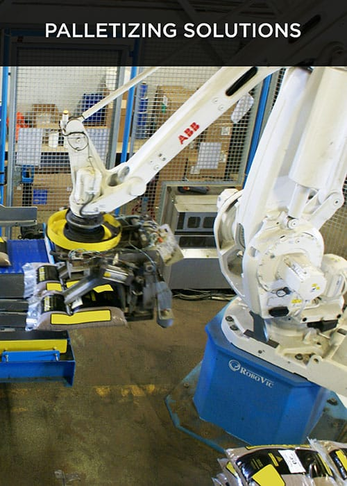 robovic industrial automation for palletizing