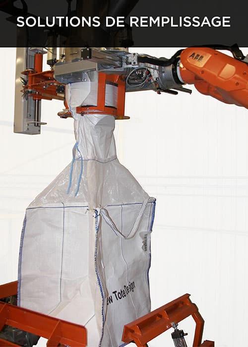 Robovic automatisation industrielle pour solution de remplissage de tote